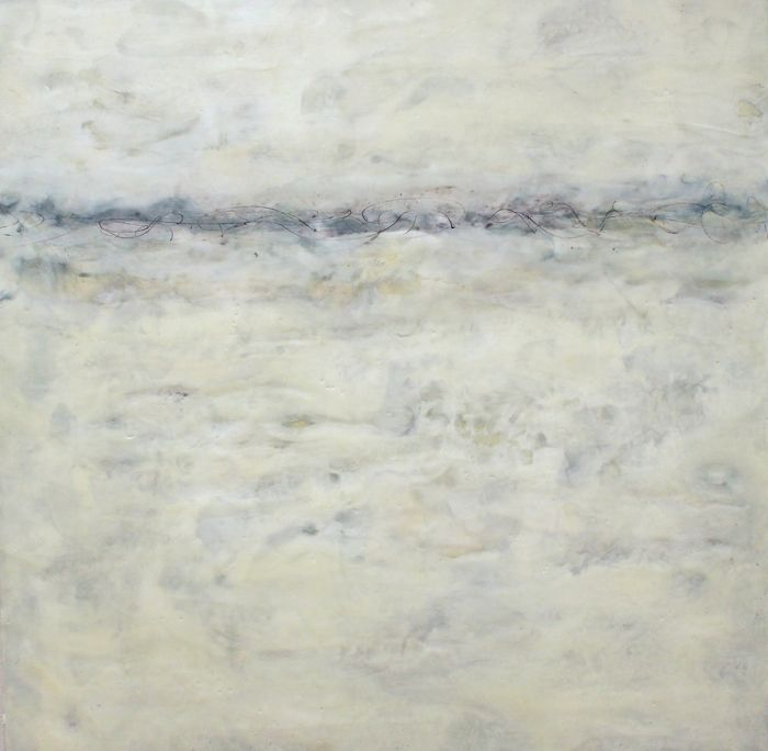 """Whisper"" by Patricia Dusman - 24 x 30, encaustic and oil, at the J. A. Willy Gallery in Naples, Florida."