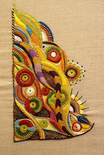 from Mary and Patch - Pascal Jaouen style embroidery