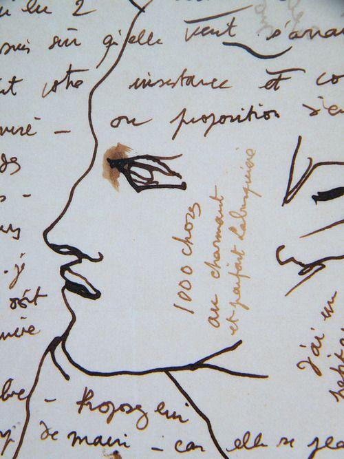 loverofbeauty:    Jean Cocteau doodle