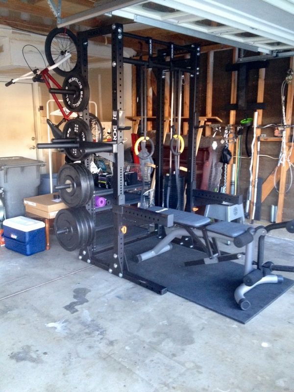 Best garage gyms images on pinterest gym room