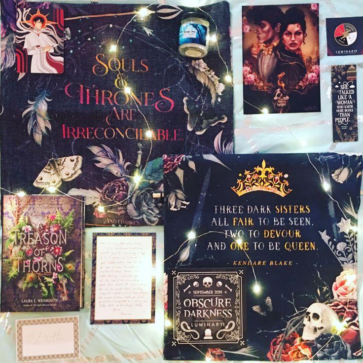#bookstagram #yabookstagram #luminarybookbox #atreasonofthorns #threedarkcrowns #vicious #veschwab #thehazelwood #bookmark  #woodenbookmark #booksandfairylights #booksandbookmarks #bookish #bookphoto #bookphotography #bookunboxing #yabookbox #andidarken #bookblog #yabookblogger #lumiobscure #bookbox #bookishcandle #booklove #bookworm #bookishbox #bookishfeatures #bookblogging #bookaholic #bookstagrammer