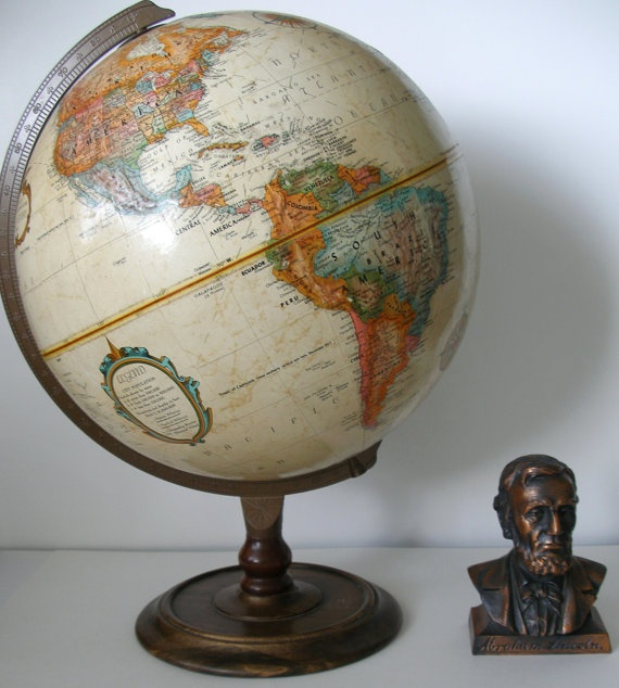 Looks similar to one of my globes :) (Love Lincoln there, too!)