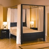 """LifeStyle Solutions""""Wilshire Platform Canopy Bed"""