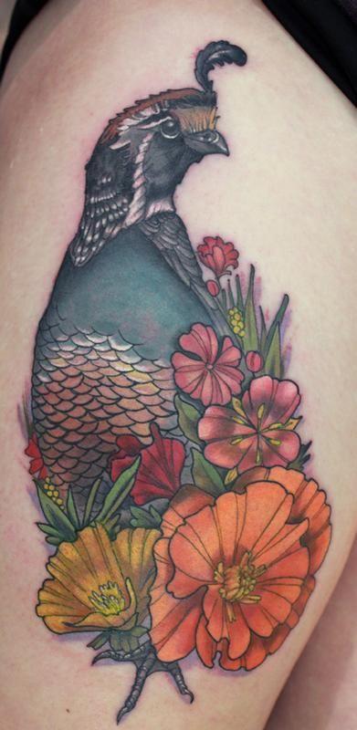 quail tattoo -