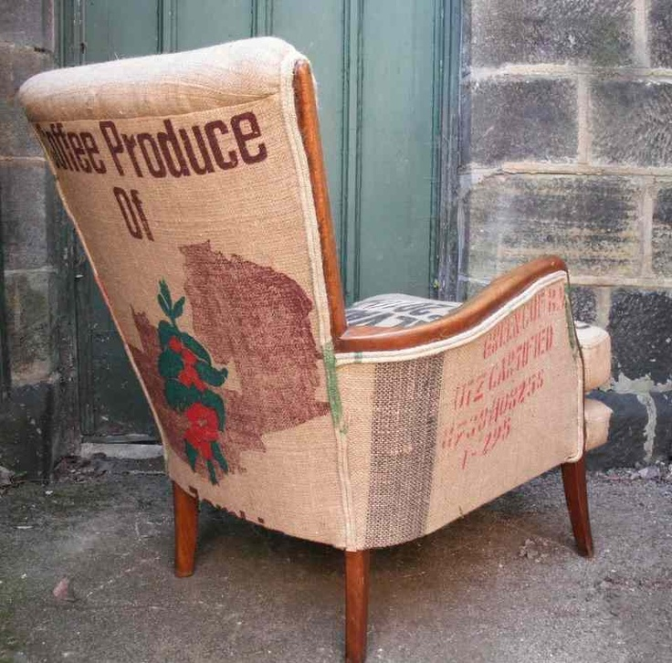 Coffee And Grain Sack Chair What A Whimsical Accent