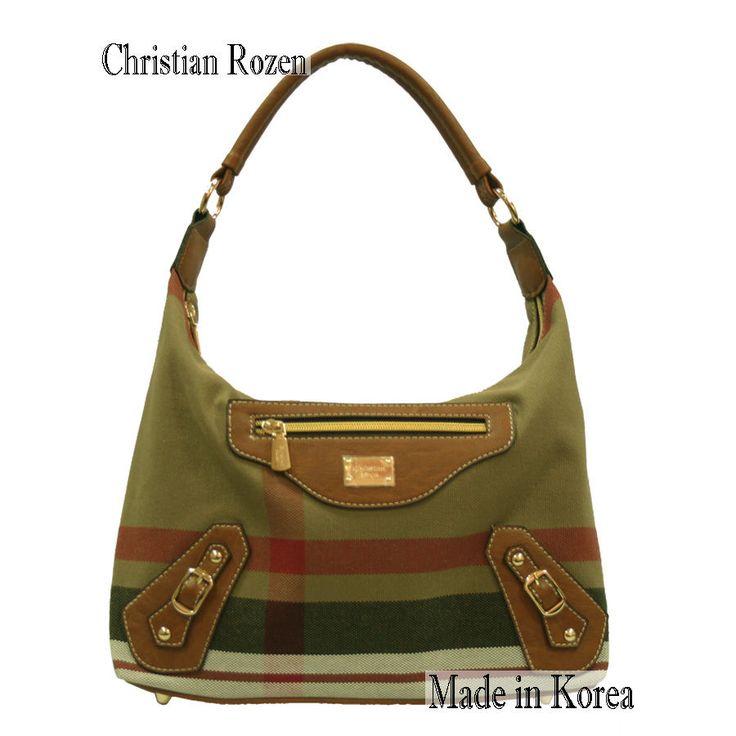 Christian Rozen Womens Fashion Motor Cross Bag Color Brown-Red strife #KoreaChristianRozen #MotorCrossBag