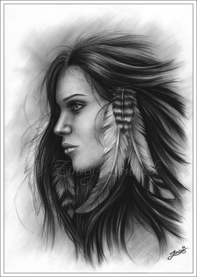 She With The Feathers by Zindy on deviantART