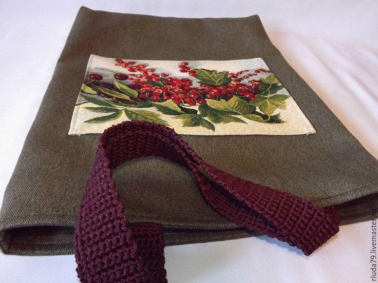 """Купить Сумка женская """"Красная смородина с вишней"""" сумка из текстиля, гобелена - сумка ручной работы"""