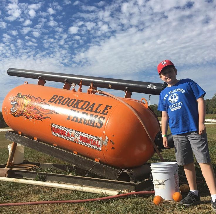 It's a beautiful Sunday afternoon for pumpkin fun! We're checking out Brookdale Farm today: pumpkin chunkin' hayrides and corn maze here we come! #pumpkinpicking  #cornmaze