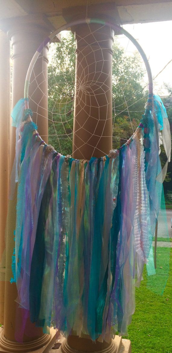 Oversized Giant Magical Mermaid Dreamcatcher by TheRosyRoom For a little girls mermaid room