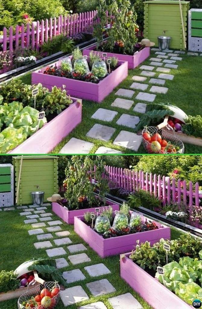 Superior Paint Pallet Garden Edging   20 Creative Garden Bed Edging Ideas Projects  Instructions #Gardening