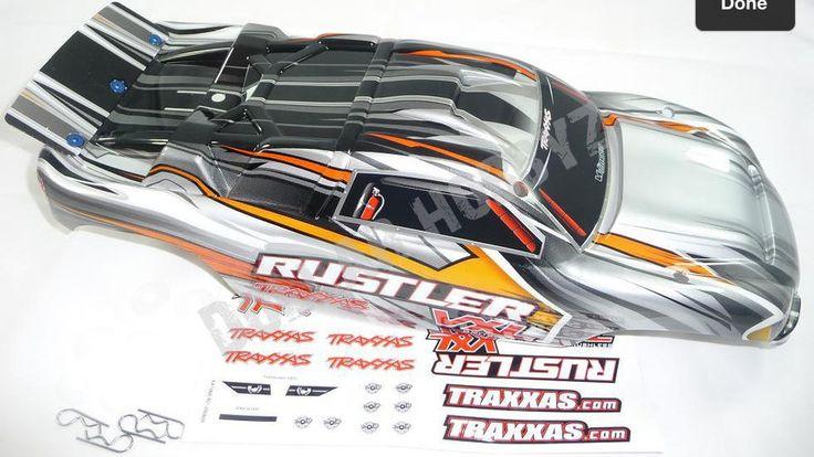 Traxxas Rustler VXL silver body.