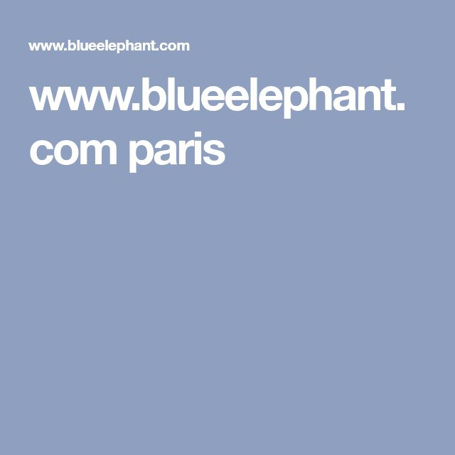 www.blueelephant.com paris