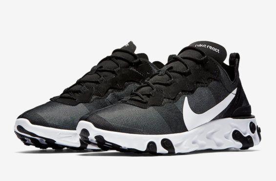 9e2de95988ea Release Date  Nike React Element 55 Black White Nike is set to debut the  Nike