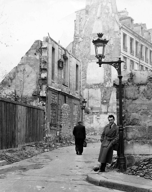 Robert Doisneau rue du Figuier mars 1951 par Roland d'Ursel