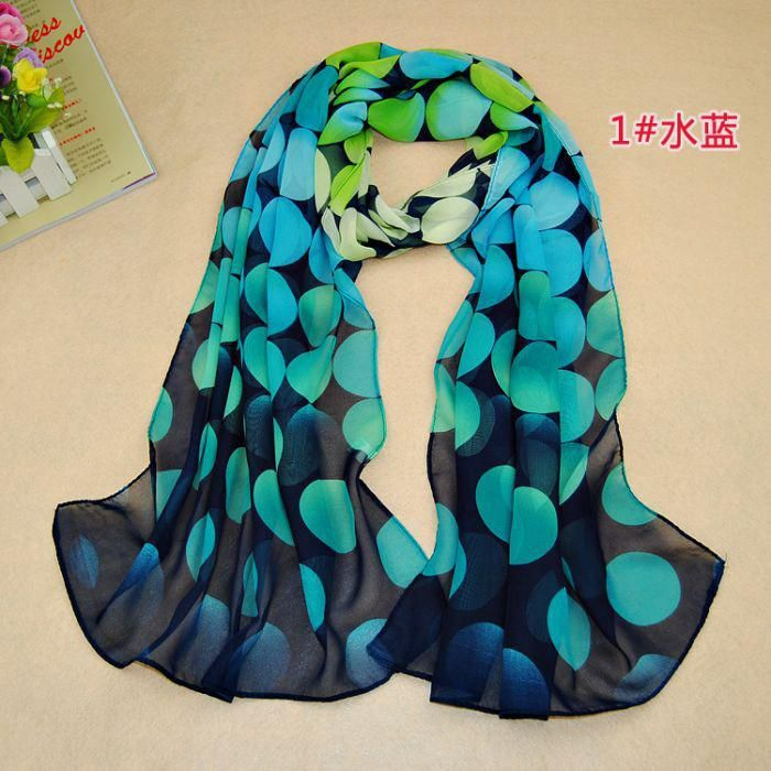 Woolen headscarves, cotton pashmina shawls, warm and fashionable scarves online are provided by verna_fashion to make your winter warmer, buy some  2014 new design ladies printe big polka dot scarf chiffon silk long muslim hijab head wrap scarves/shawls 10pcs/lot 160*50cm!