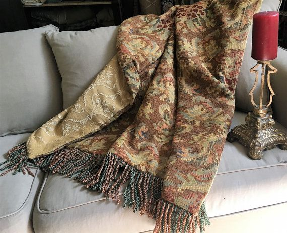 Moroccan Throw Blanket Tapestry Art Old World by AlexsAttic