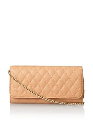60% OFF Zenith Women's Quilted Shoulder Bag with Chain, Sand