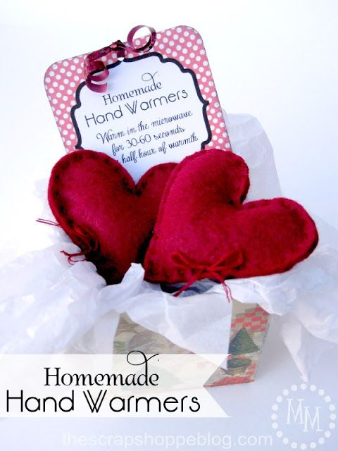 Hand Warmers - A little something to warm your hands, as you have warmed my heart