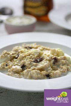 Apple & Sultana Porridge. #HealthyRecipes #DietRecipes #WeightLossRecipes weightloss.com.au