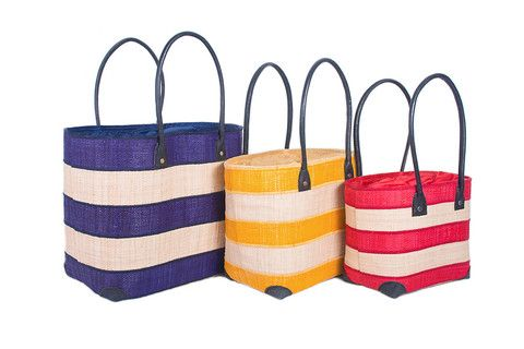 Classic Buoy Basket available in Dark Blue, Aqu#beachbag #strawbag #tote #basket