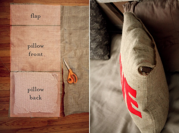 DIY Pillow Cover, so easy! Why didn't I think of this!