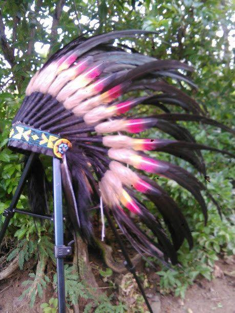 Doble plumas niños nativos americanos inspiración tocado