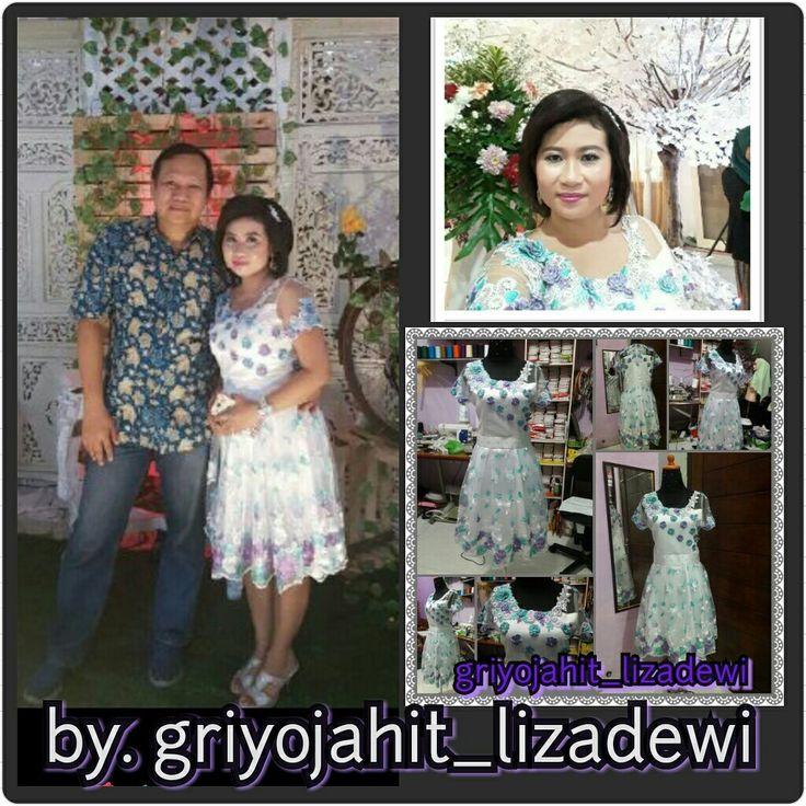 Gaun pendek bordir 3 dimensi griyojahit_lizadewi