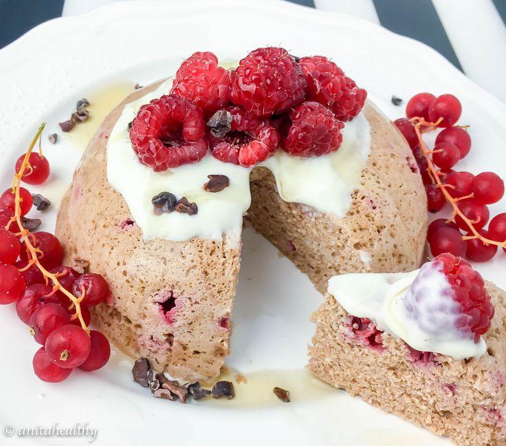 Mugcake chocolate framboesa