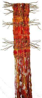 Arte Textil Marianne Werkmeister: Arbol Rojo--love this work.