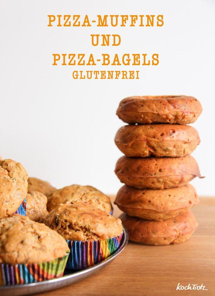 herzhafte pizaa muffins oder bagels glutenfrei und optional vegan und mit dinkel recipe. Black Bedroom Furniture Sets. Home Design Ideas