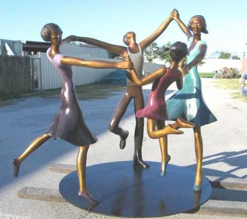 Bronze Parent - Child #sculpture by #sculptor Esther Wertheimer titled: 'Celebration' #art