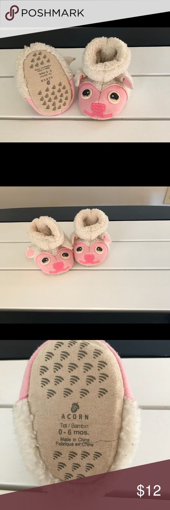 Acorn Lamby Slippers Adorable Acorn Slippers for your babe. Cozy and super soft inner lining. Acorn Shoes Slippers