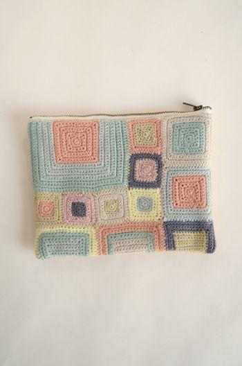 Idea - nesessaire crochet pouch