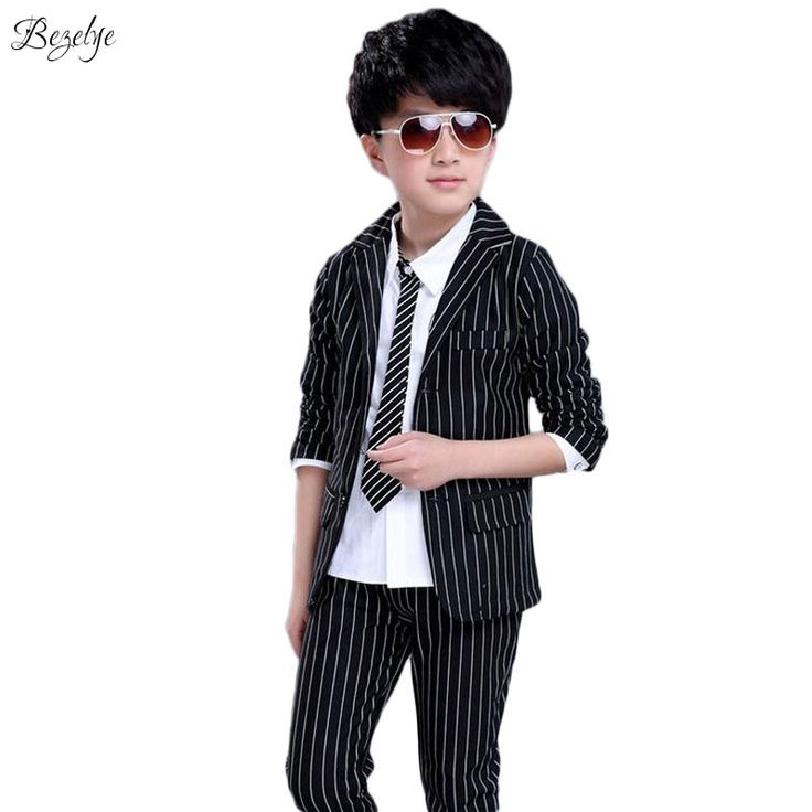 28.33$  Buy here - http://ai3un.worlditems.win/all/product.php?id=32641794692 - Boy Striped Wedding Blazer Spring Costume for Boys Suits for Weddings Long Sleeve Boys Prom Suits Fashion Boys Wedding Blazers