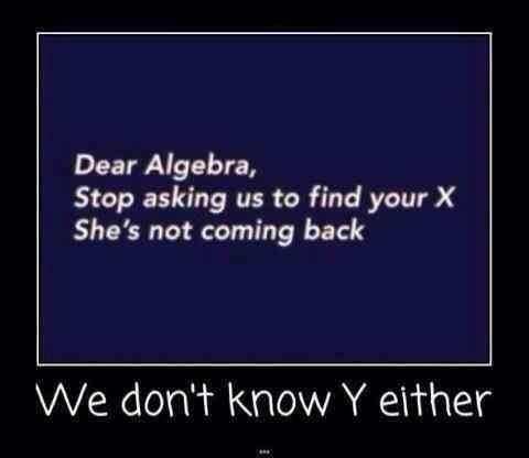 Algebraic humour