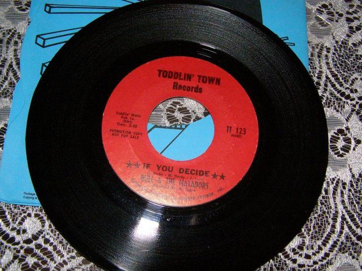BULL & THE MATADORS IF YOU DECIDE/LOVE COME DOWN rare soul 7''promo single #ClassicRB