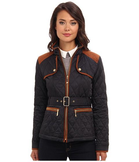 Vince Camuto Transitional Quilted Jacket G8021 Navy/Rust - Zappos.com Free Shipping BOTH Ways