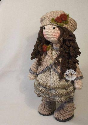Crochet Pattern for Doll AVA pdf Deutsch English