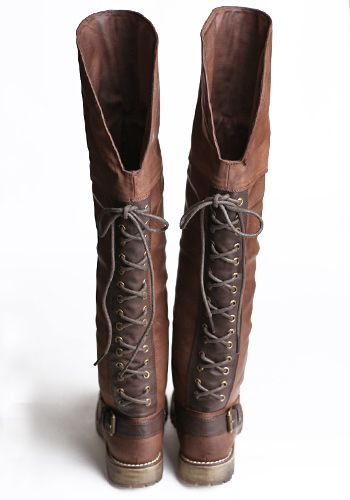LOVE!!!!Knee High, Cowboy Boots, Leather Boots, Cute Lace Sweaters, Lace Up Boots And Jeans, Knee Boots, Fall Boots, Lace Back, Brown Boots