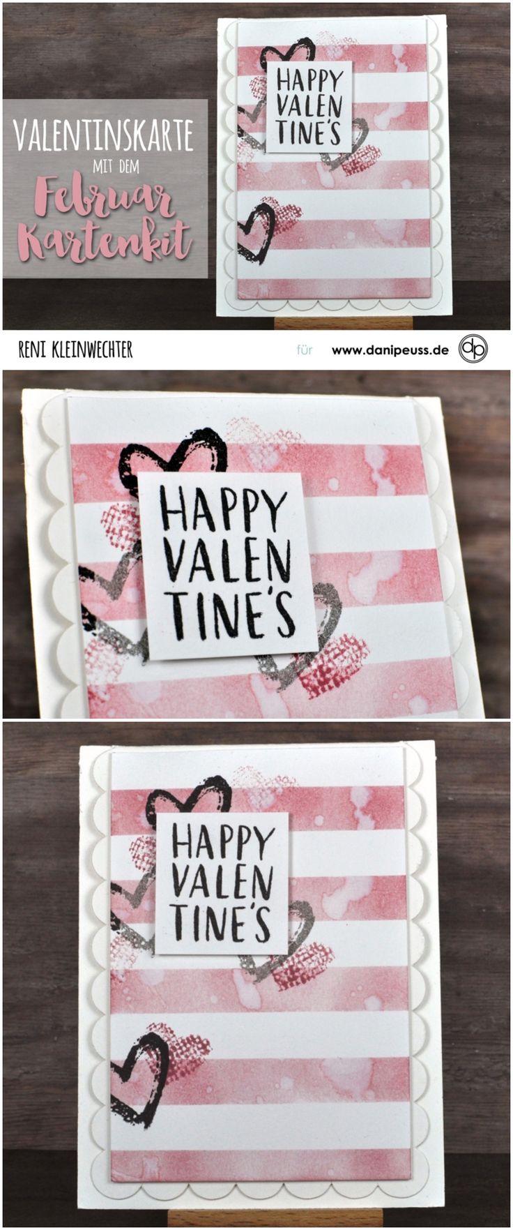 Distress Valentinskarte Mit Dem Februar Kartenkit Von Reni Kleinwechter Für  Www.danipeuss.de #