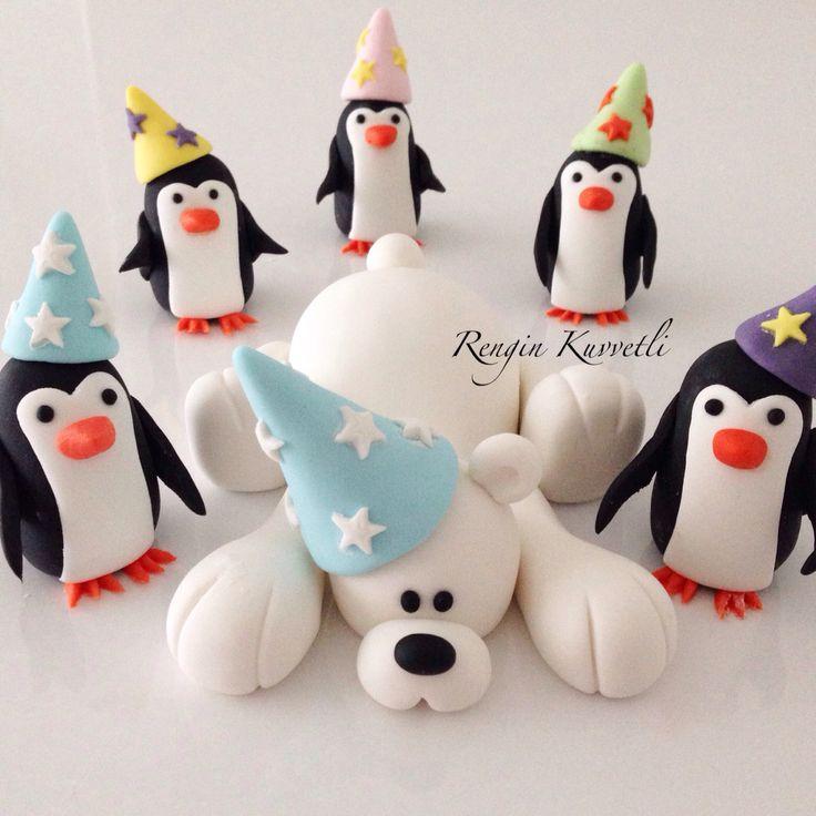 Kutup ayısı ve penguenler / Polar bear and Penguins