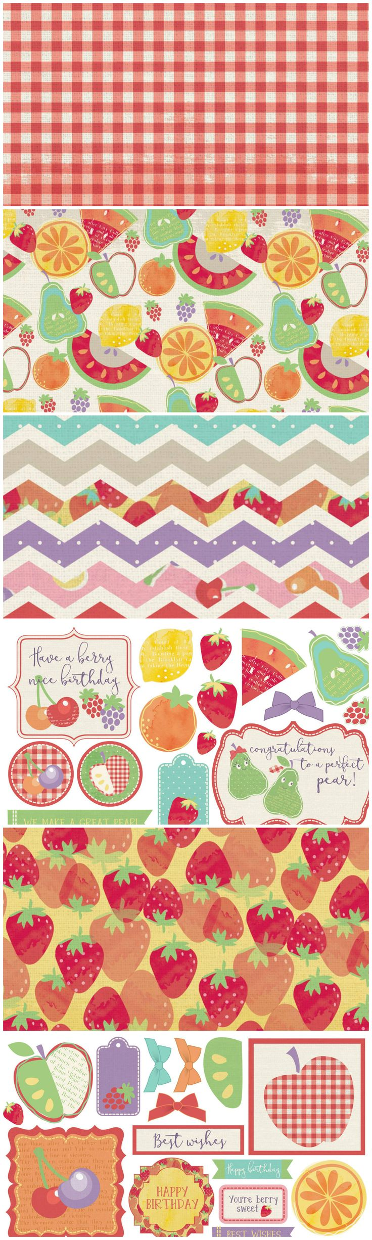Free Printable Fruit Salad Digital Kit from Papercraft Inspirations Magazine