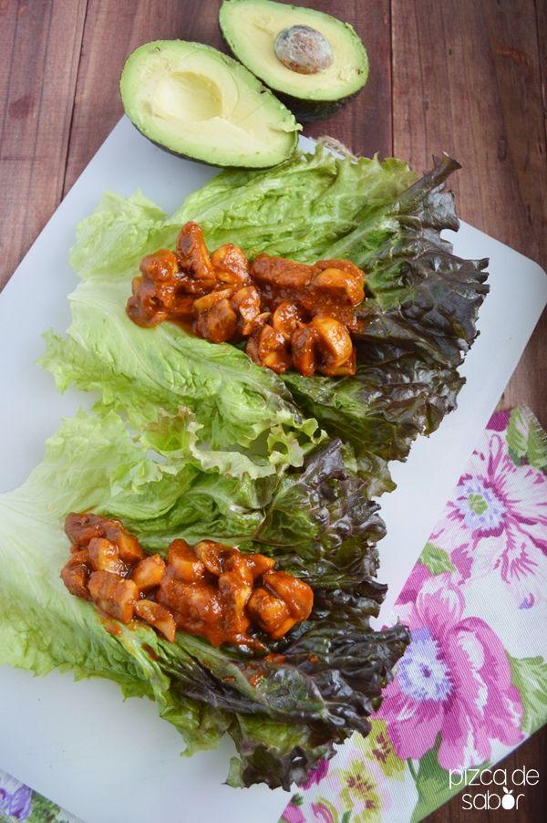 Asado de champiñones (la versión vegetariana y saludable del asado) | http://www.pizcadesabor.com/2014/03/17/asado-de-champinones-la-version-vegetariana-y-saludable-del-asado/