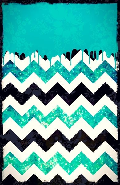 Dripping Chevron Cyan - for iphone Art Print by Simone Morana Cyla | Society6