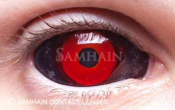 High quality scleras as recommended by a contact lens expert... Perfect for Gambit cosplay :D