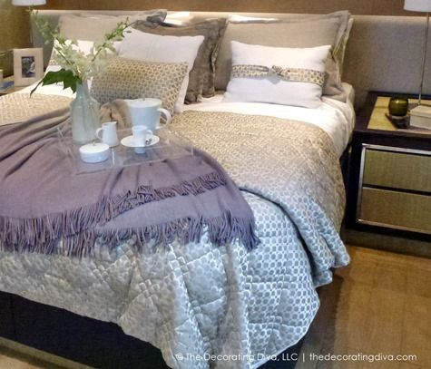 Pretty Bedroom Colors Purple & Taupe | The Decorating Diva, LLC