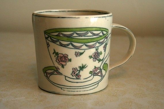 Cup on Cup: Pink Flowers - Molly Hatch