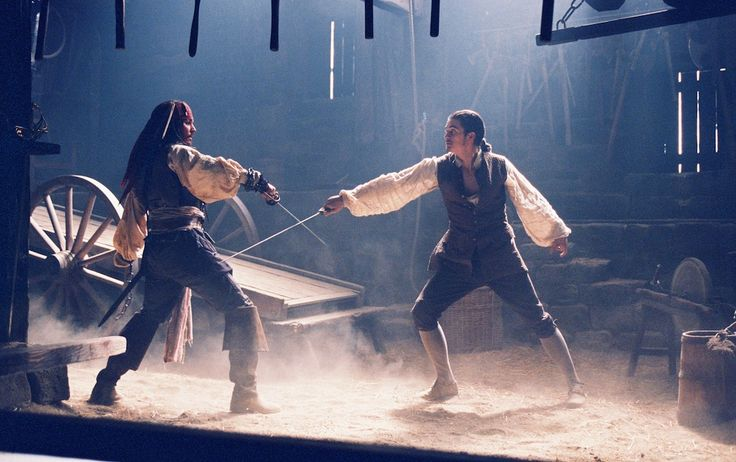 Pirates of the Caribbean: The Curse of The Black Pearl: The soot used in this fight scene was actually chocolate powder.