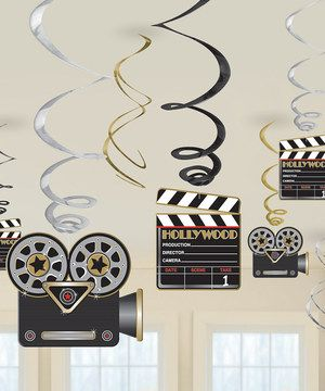 Another great find on #zulily! Amscan Hollywood Party Hanging Swirl Decoration - Set of Two by Amscan #zulilyfinds